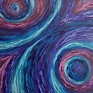 Swirly Purple and Blue Stuff by ReginaThompson