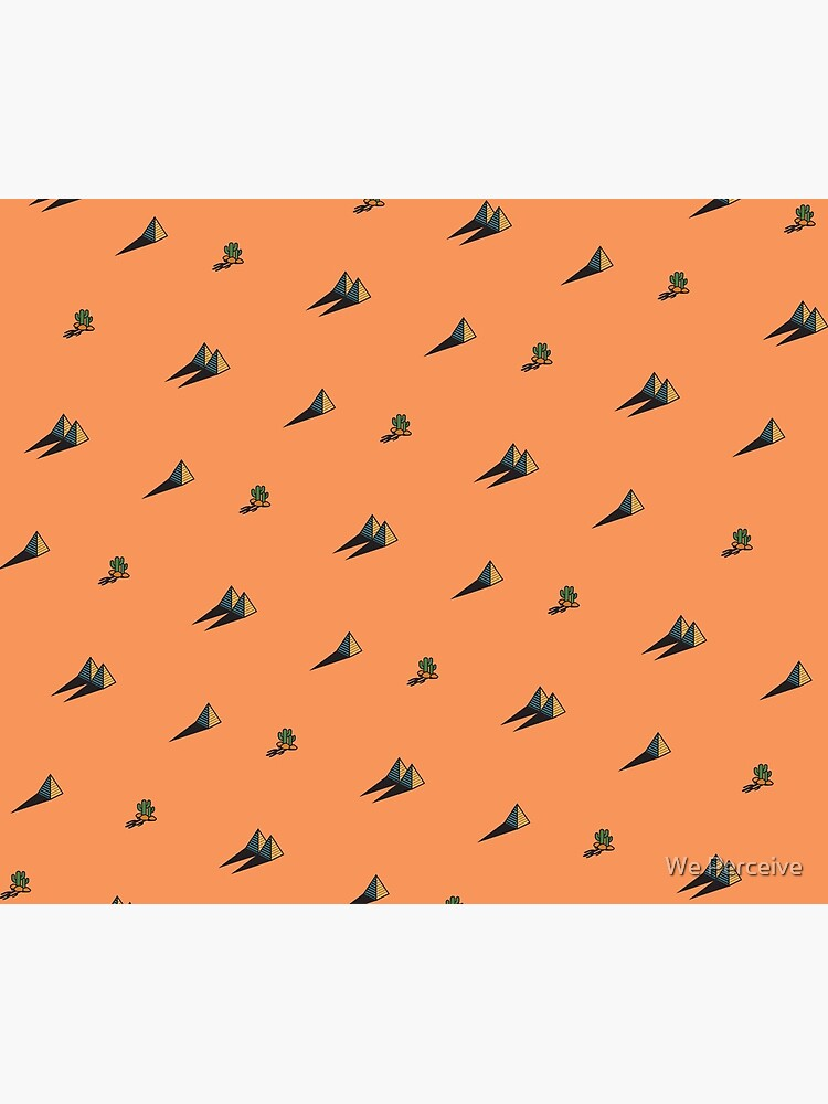 DAY - Egypt pyramid and cactus pattern in ORANGE by CitizenWong