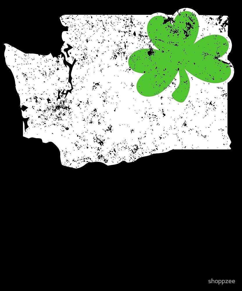 St Patricks Day Washington Shamrock Clothing by shoppzee