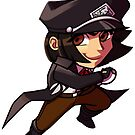Captain Lily Sticker! by WickedSuitProd