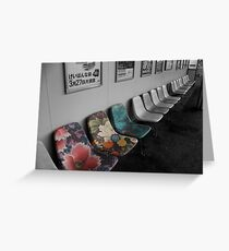 Snazzy seats Greeting Card