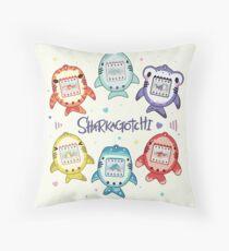 Sharkagotchi: 6 Species of Digital Pets! Throw Pillow