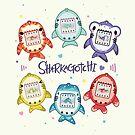 Sharkagotchi: 6 Species of Digital Pets! by bytesizetreas