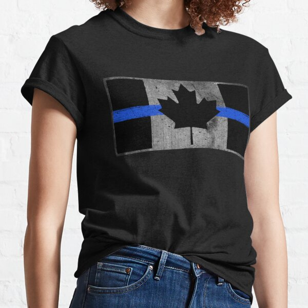 Thin Blue Line Canadian Flag Royal Mounted Police Classic T-Shirt
