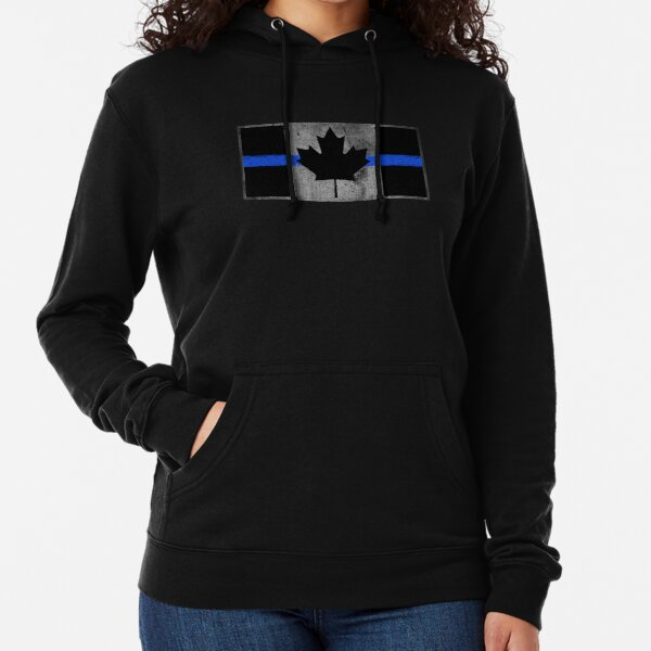 American Flag USA Map Policeman Hoodie Thin Blue Line Classic Arm Police Officer Sweatshirt Royal Blue
