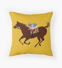 Das Rennpferd - Pferderennen Bekleidung & Geschenke Dekokissen