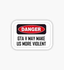 DANGER GTA V  Sticker