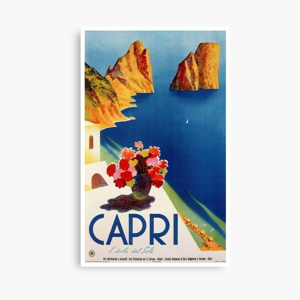 Vintage Capri Italy Travel Canvas Print