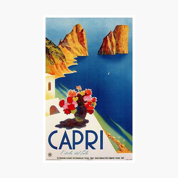 Vintage Capri Italy Travel Photographic Print