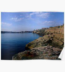 Valletta harbour Poster