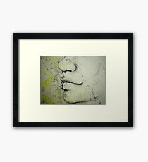 Person snout Framed Print