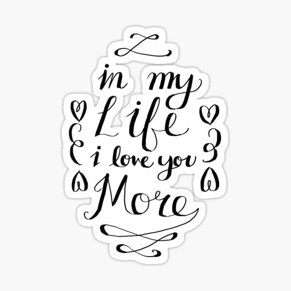 Beatles - In My Life Sticker