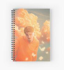 Orange Skies and Butterflies Spiral Notebook
