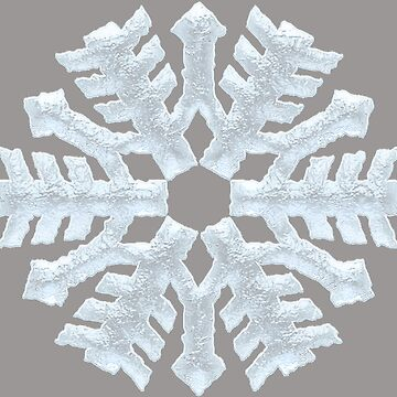 Icy White Frozen Snowflake on Rich Elegant Gray - Frosty Winter Christmas by 26-Characters
