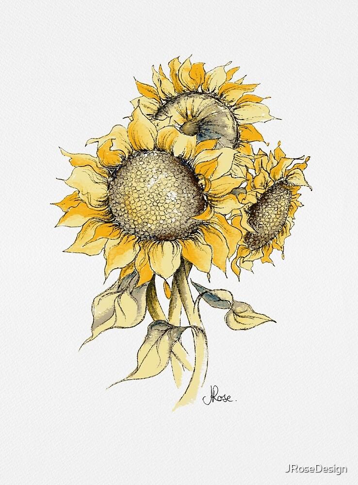 Gelbe Sonnenblumen von JRoseDesign