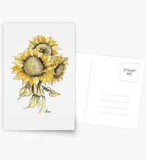 Gelbe Sonnenblumen Postkarten