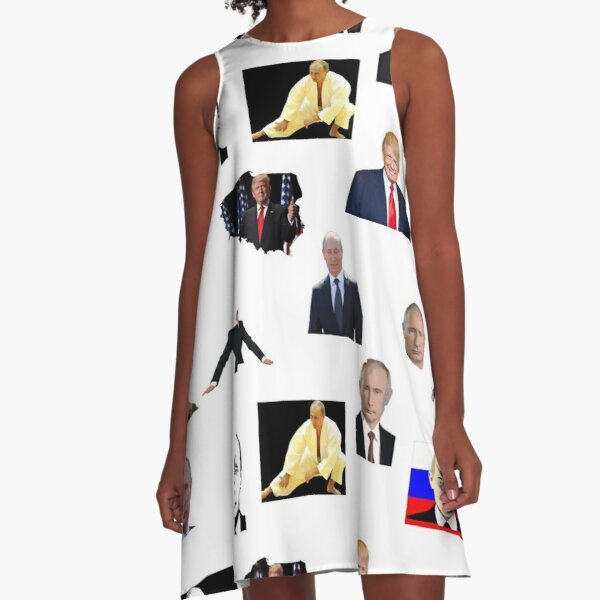 Collage, Pattern, tracery, weave, template, routine, stereotype, gauge, mold A-Line Dress