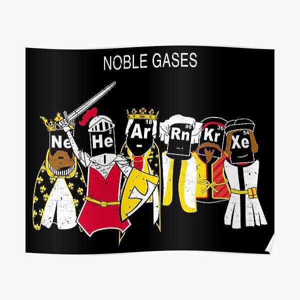 Noble Gases - Rn Ne Ar Xe He Kr Poster