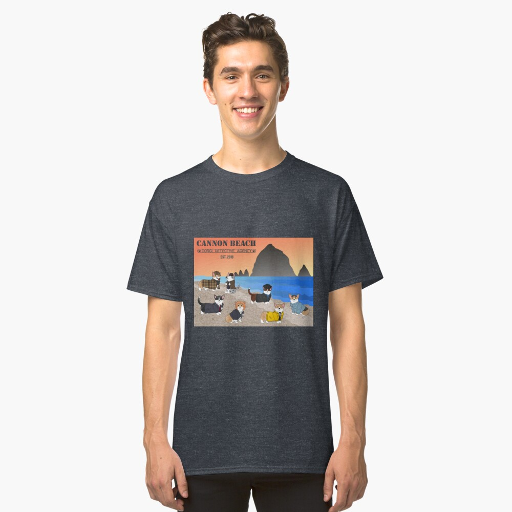 Welcome to the CBCDA - Cannon Beach Corgi Detective Agency Classic T-Shirt Front