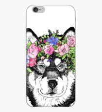 Alaskan Malamute Floral iPhone Case