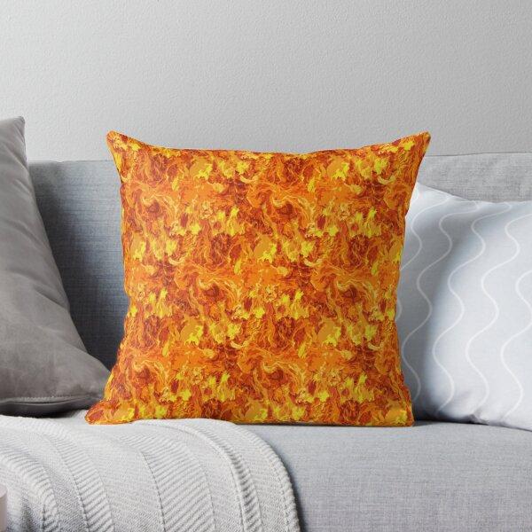 Blazing Fire, Flames, Fire Pattern Throw Pillow