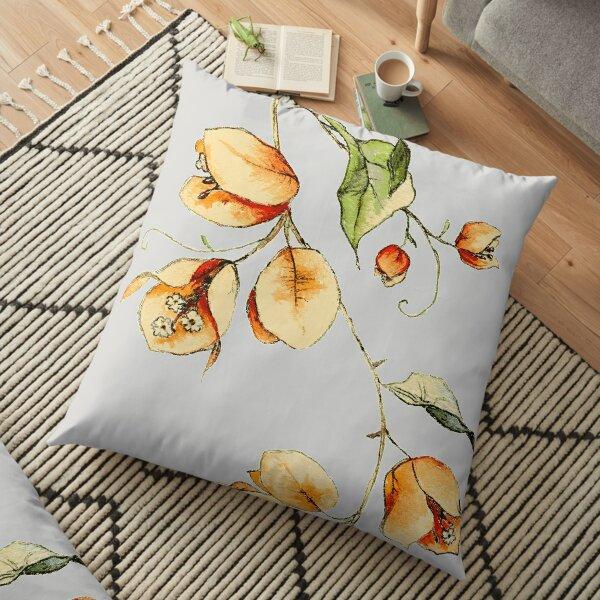 Sunset Vibes Bougainvillea  Floor Pillow
