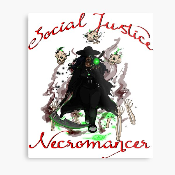 Social Justice Necromancer Metal Print