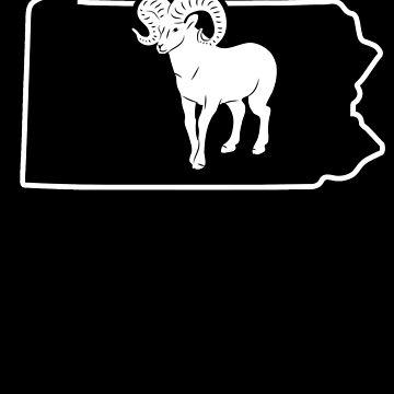 Bighorn Sheep T Shirt Pennsylvania Big Horned Sheep by shoppzee