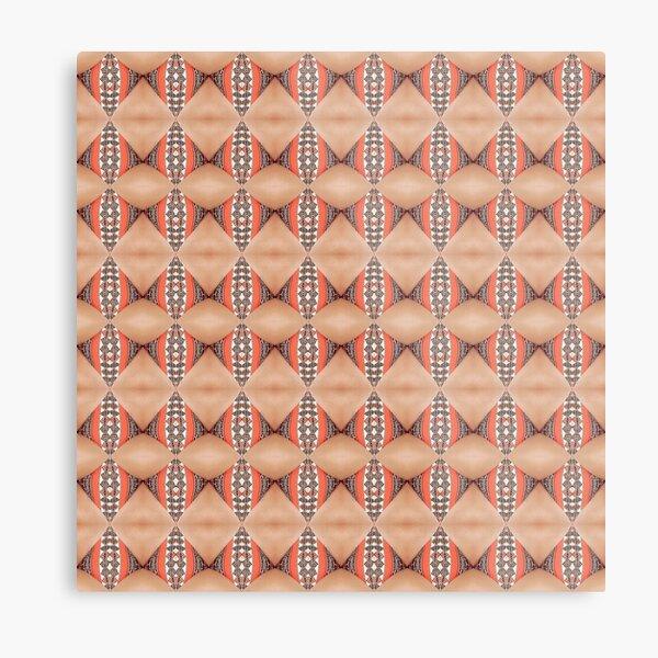 Tile, original, ingenious, novel, own, individual, unorthodox, refined Metal Print