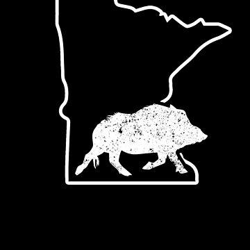 Wild Boar Hunting Shirt Minnesota Feral Hog Calling by shoppzee