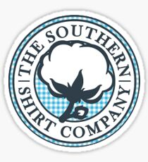 The Southern Shirt Co. Sticker — Blue Gingham Sticker