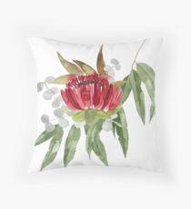 Australian Native Bush Watercolour Throw Pillow