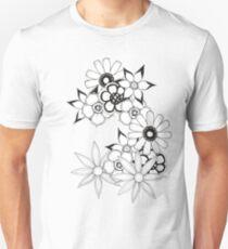 Ink flower patter  T-Shirt