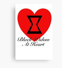 Black Widow At Heart Canvas Print