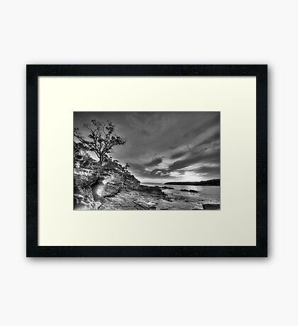 Alone - Balmoral Beach - The HDR Experience Framed Print