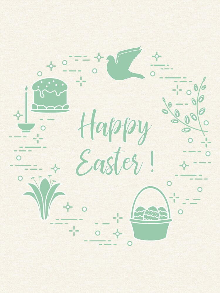 Easter cake, willow, lily,candle,dove,basket,eggs. by aquamarine-p