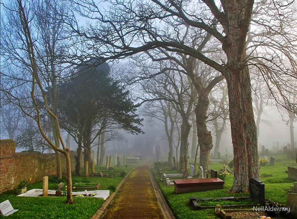 Foggy Path Through the Churchyard by NeilAlderney