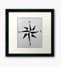 Handmade wind rose Framed Print