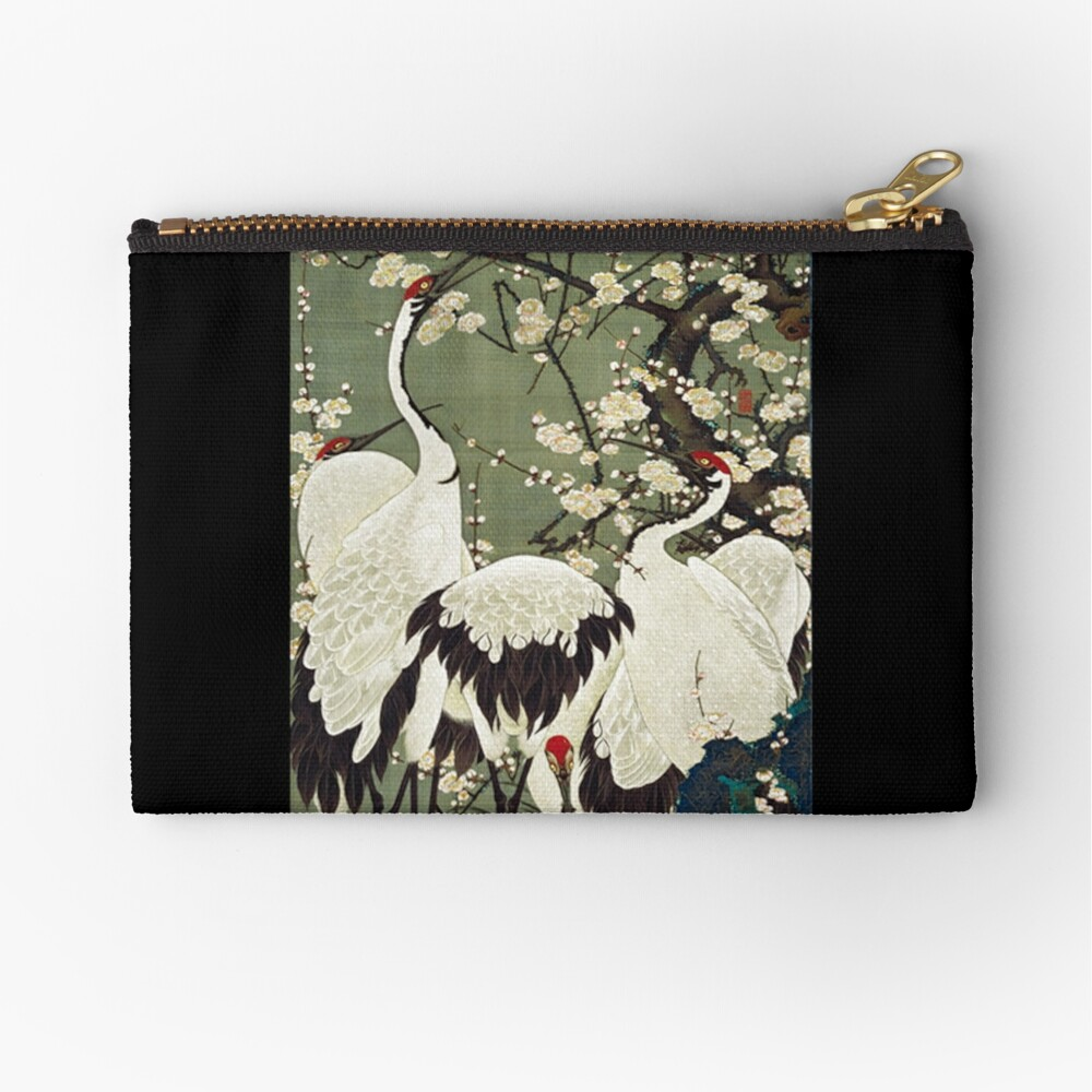 Canvas Cash Coin Purse,Maple And Birds Print Make Up Bag Zipper Small Purse Wallets