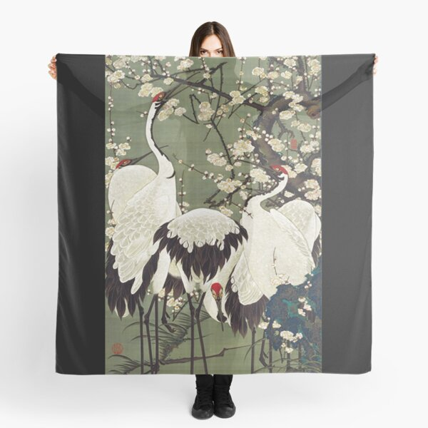 Favourite Artist - Plum Blossoms and Cranes - Ito Jakuchu Scarf