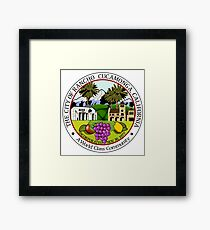 Seal of Rancho Cucamonga  Framed Print