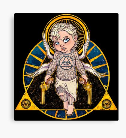 Cheeky Cherub Canvas Print