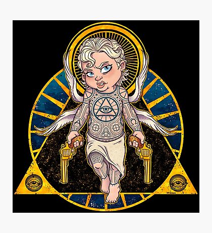 Cheeky Cherub Photographic Print