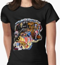 Basquiat Skull sticker Women's Fitted T-Shirt