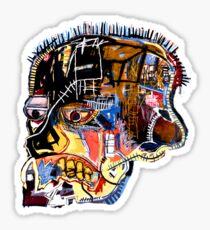 Basquiat Skull sticker Sticker