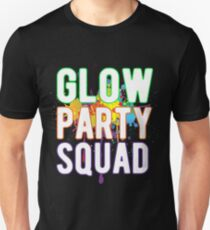 Glow Party Squad Paint Colorful Cool Shirt Unisex T