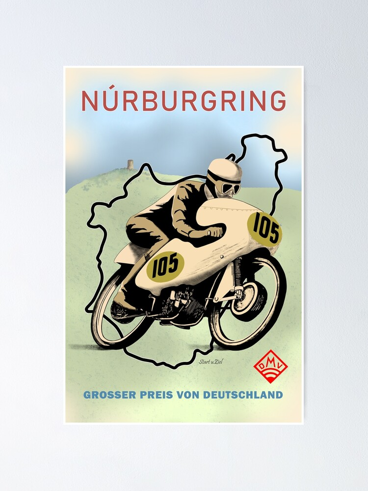 NURBURGRING RACING METAL SIGN RETRO VINTAGE STYLE SMALL shop grand prix racing