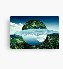Colorful Artwork Combining Geometry And Landscape Photography Canvas Print