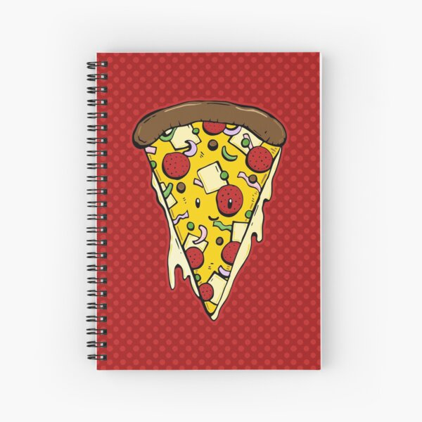 Pizza with dots Spiral Notebook