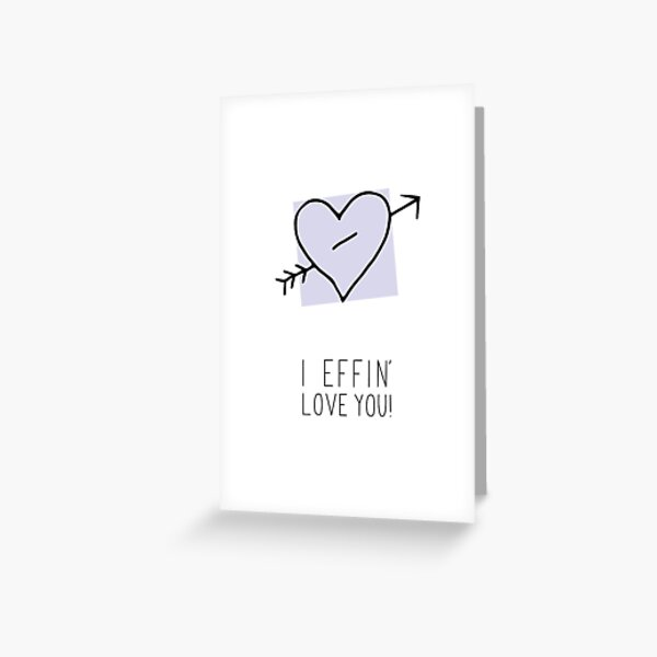 Passionately in Love Greeting Card